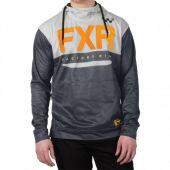 FXR M Helium Jersey Hoodie Char/Orange