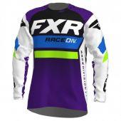 FXR Revo MX Motocross Jersey Weiß/Purple/Limonengrün