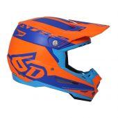 6D Motocross Helm ATR-2 Sector Orange Blau