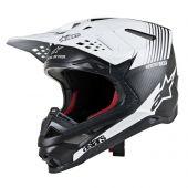Alpinestars Motocross Helm Supertech SM10 Dyno Schwarz Weiß