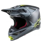 Alpinestars Helmet Supertech SM10 Meta Black Gray Yellow