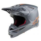 Alpinestars Helmet Supertech SM10 Meta Gray Orange