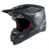 Alpinestars Motocross Helm Supertech SM10 Solid Schwarz Matte Carbon