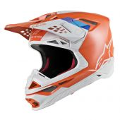 Alpinestars Motocross Helm Supertech SM8 Contact Orange Grau