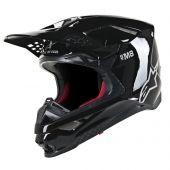 Alpinestars Helmet Supertech SM8 Solid Glossy Black