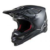 Alpinestars Motocross Helm Supertech SM8 Solid Matte Schwarz
