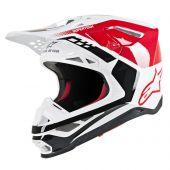 Alpinestars Motocross Helm Supertech SM8 Triple Rot Weiß