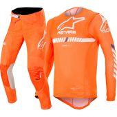 Alpinestars Supertech Orange White Blue Combo