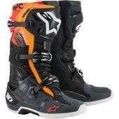 Alpinestars Boots Tech 10 Black Gray Orange Red Fluo