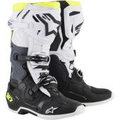 Alpinestars Boots Tech 10 Black White Yellow Fluo