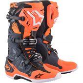 Alpinestars Boots Tech 10 Cool Gray Orange Fluo