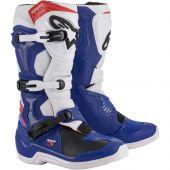 Alpinestars Motocross Stiefel Tech 3 Blau Weiß Rot
