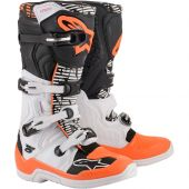 Alpinestars Motocross Stiefel Tech 5 Weiß Schwarz Orange