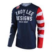 Troy Lee Designs GP Air Motocross Jersey Americana Blau