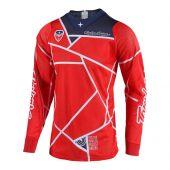Troy Lee Designs SE Air Motocross Jersey Metric Rot Blau