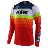 Troy Lee Designs SE Pro Motocross Jersey KTM Mirage Weiß Rot
