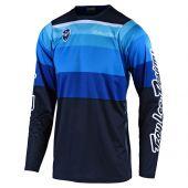 Troy Lee Designs SE Motocross Jersey Spectrum Blau