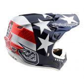Troy Lee Designs SE4 Composite Helmet Freedom Blue