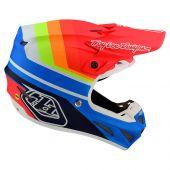 Troy Lee Designs SE4 Composite Motocross Helm Mirage Blau Rot
