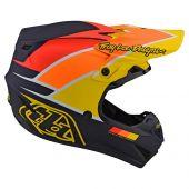 Troy Lee Designs SE4 Polyacrylite Motocross Helm Beta Blau Gelb