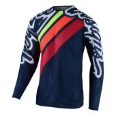 Troy Lee Designs Se Pro Air Crossshirt Seca 2.0 Navy Blau Orange