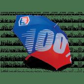 100% Regenschirm Blau Rot