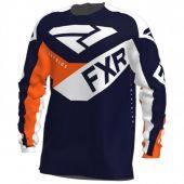 FXR Jugend Clutch MX Motocross Jersey Midnight/Weiß/Orange